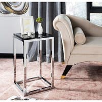 Safavieh Leah Black/ Chrome Square Side Table