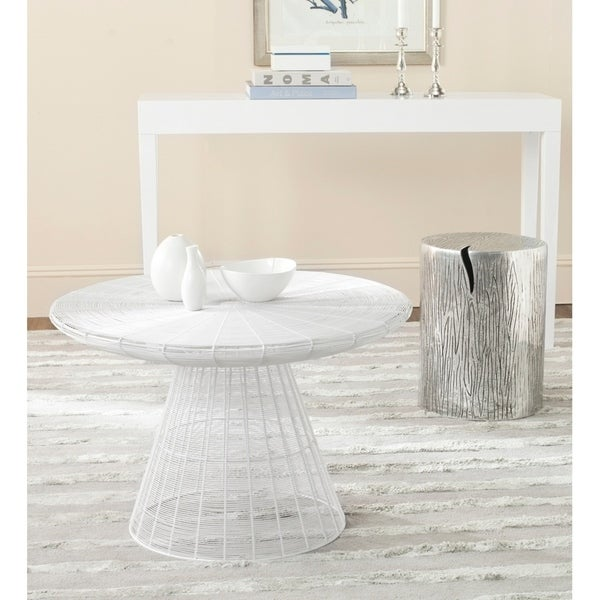 Wire Coffee Table | Shop Safavieh Reginald White Wire Coffee Table Free Shipping Today