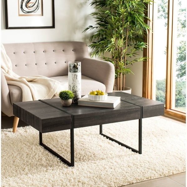 "Safavieh Tristan Modern Black Coffee Table - 43.3"" x 23.6"" x 15.7"""