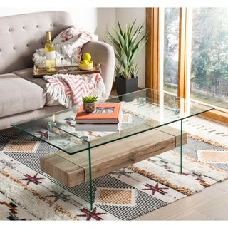 Safavieh Kayley Natural Glass Coffee Table