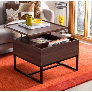 Safavieh Kristie Dark Oak/ Black Lift-Top Coffee Table