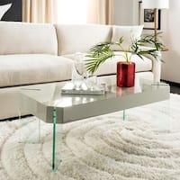 Safavieh Katelyn Grey Glass Coffee Table