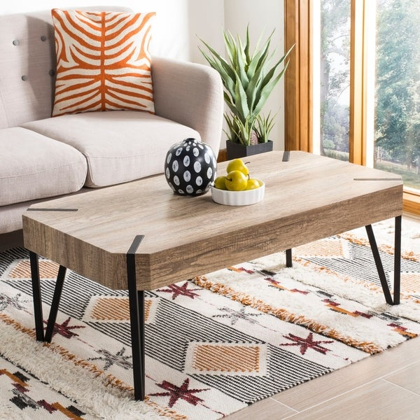 "Safavieh Liann Multi/ Brown Coffee Table - 43.3"" x 23.6"" x 15.7"""