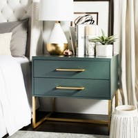Safavieh Estelle Teal Nightstand