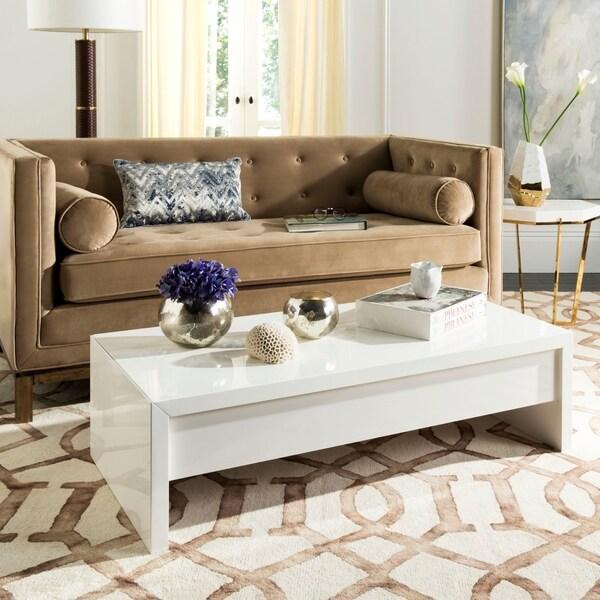 White Lift Top Coffee Tables: Shop Safavieh Kinsley White Lift-Top Coffee Table