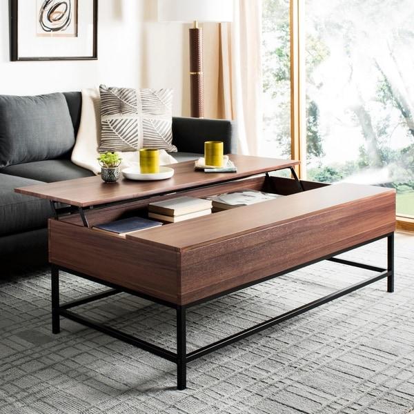 Safavieh Gina Dark Oak/ Black Lift-Top Coffee Table