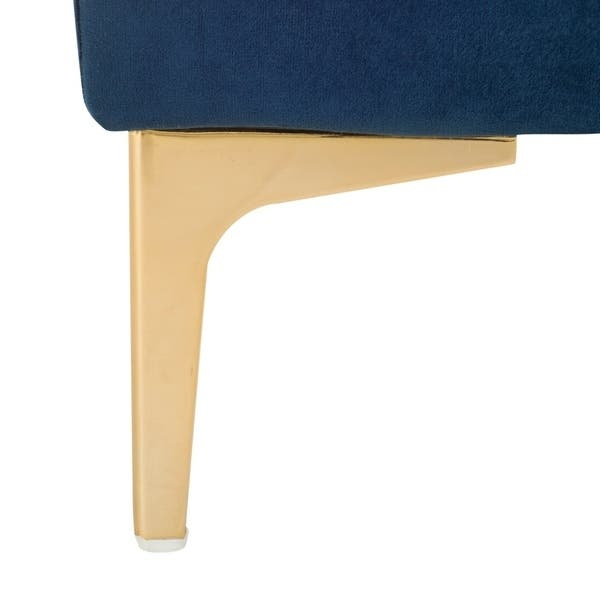 Fantastic Safavieh Giovanna Navy Brass Square Bench 36 X 36 X 17 Gmtry Best Dining Table And Chair Ideas Images Gmtryco