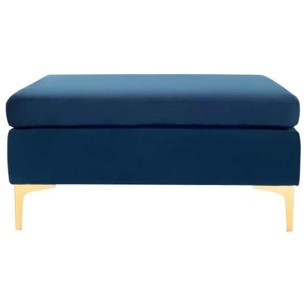 Pleasant Safavieh Giovanna Navy Brass Square Bench 36 X 36 X 17 Gmtry Best Dining Table And Chair Ideas Images Gmtryco