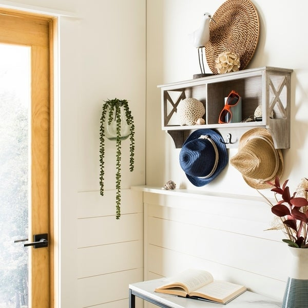 Safavieh Freya Grey Hanging Storage Wall Rack