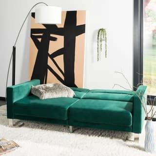 Safavieh Tribeca Emerald Steel Foldable Futon Bed 77 1 X 33