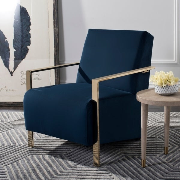 Shop Safavieh Orna Navy Accent Chair On Sale Free Shipping Today