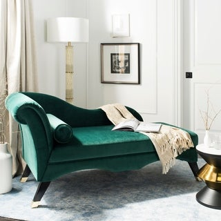 Link to Safavieh Caiden Emerald/ Black Chaise - 63' x 27.5' x 30' Similar Items in Sleeper Sofas