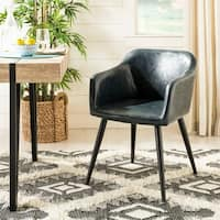 Safavieh Adalena Dark Grey/ Black Accent Chair