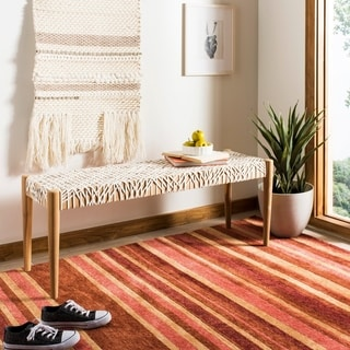 "Safavieh Bandelier Off-White/ Light Oak Bench - 47.3"" x 15.8"" x 18.2"""