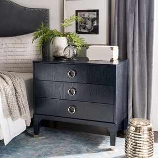Safavieh Lorna Navy 3-drawer Night Stand