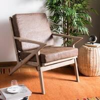 Safavieh Varys Light Brown/ White Accent Chair