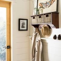 Safavieh Finley Cherry Hanging 3-basket Wall Rack