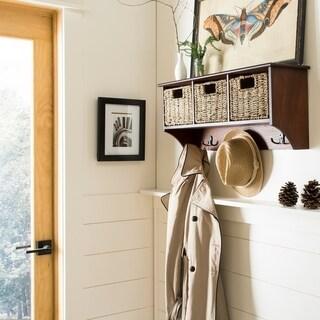 "Safavieh Finley Cherry Hanging 3-basket Wall Rack - 28"" x 7.8"" x 12"""