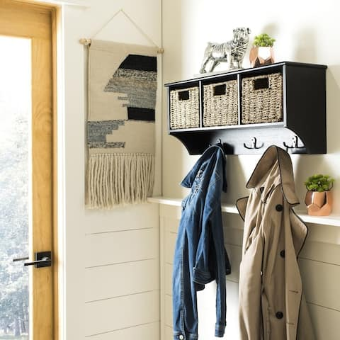 "Safavieh Finley Black Hanging 3-basket Wall Rack - 28"" x 7.8"" x 12"""