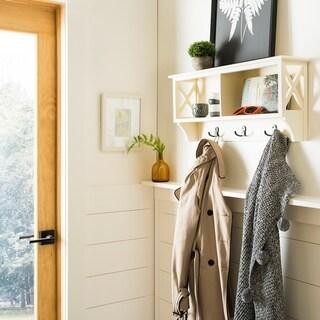 "Safavieh Freya White Hanging Storage Wall Rack - 28"" x 5.9"" x 12"""