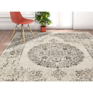 """Well Woven Traditional Vintage Medallion Area Rug - 3'11"""" x 5'3"""""""