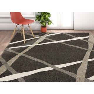 "Well Woven Modern Geometric Stripes Area Rug - 3'11"" x 5'3"""