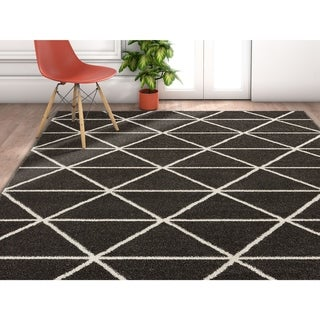 "Well Woven Modern Geometric Triangles Area Rug - 3'11"" x 5'3"""