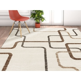 "Well Woven Modern Geometric Distressed Area Rug - 5'3"" x 7'3"""