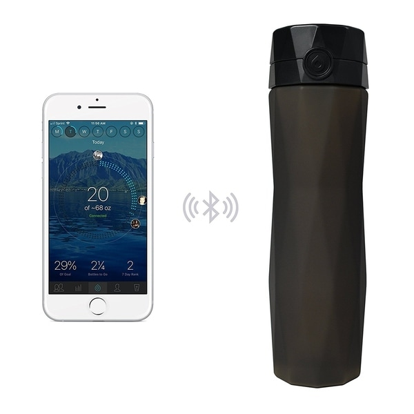 Hidrate Spark 2.0 Smart Water Bottle Black Black 24 ounces