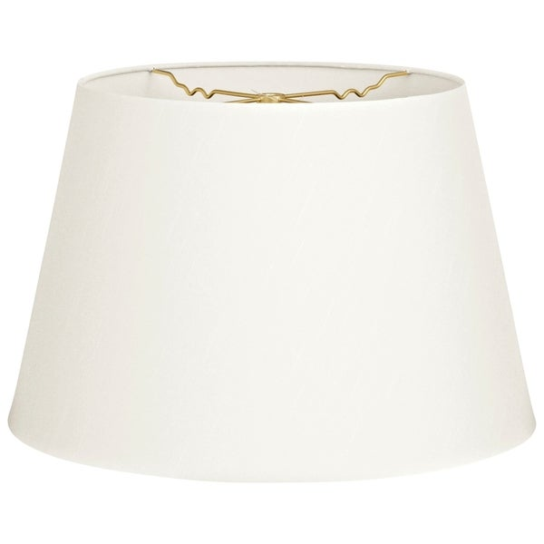 Royal Designs Tapered Shallow Drum Hardback Lamp Shade, White, 12 x 16 x 11