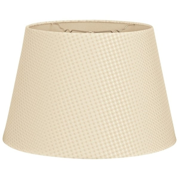 Royal Designs Tapered Shallow Drum Hardback Lamp Shade, Beige Cream, 12 x 16 x 11