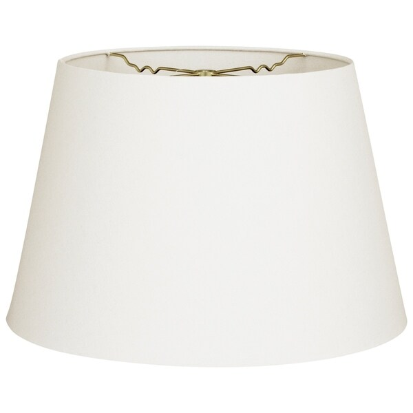 Royal Designs Tapered Shallow Drum Hardback Lamp Shade, Linen White, 12 x 16 x 11