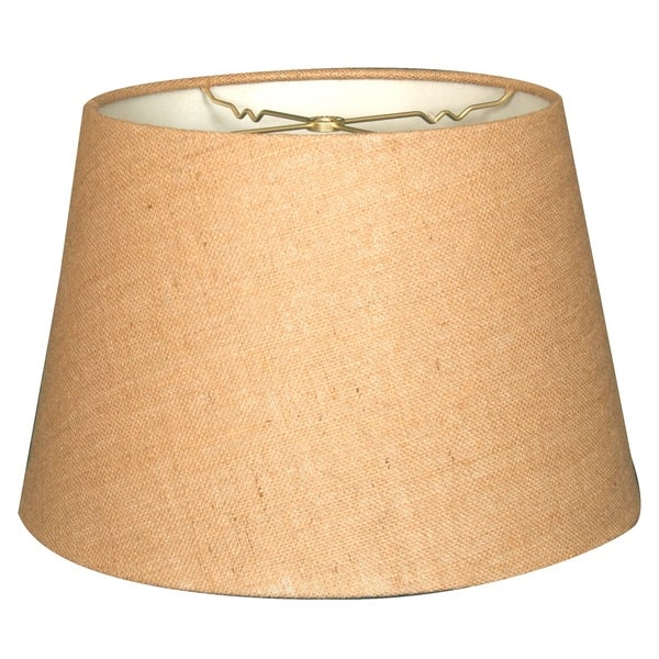 Royal Designs Tapered Shallow Drum Hardback Lamp Shade, Burlap, 12 x 16 x 11