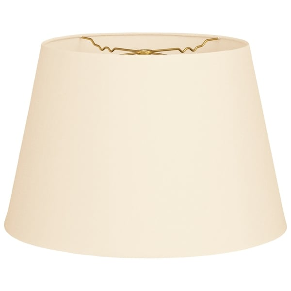 Royal Designs Tapered Shallow Drum Hardback Lamp Shade, Eggshell, 12 x 16 x 11