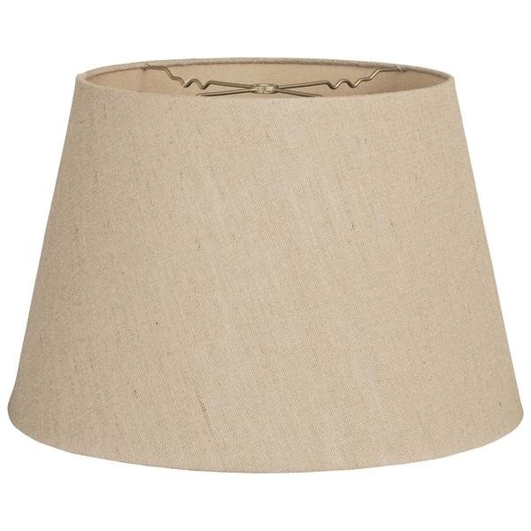 Royal Designs Tapered Shallow Drum Hardback Lamp Shade, Linen Belgium, 12 x 16 x 11