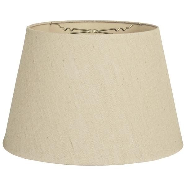 Royal Designs Tapered Shallow Drum Hardback Lamp Shade, Linen Beige, 12 x 16 x 11