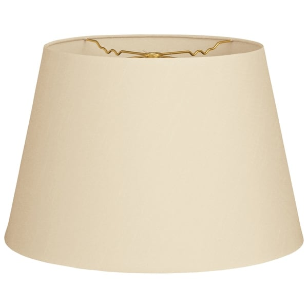 Royal Designs Tapered Shallow Drum Hardback Lamp Shade, Beige, 12 x 16 x 11