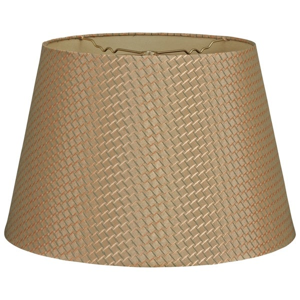 Royal Designs Tapered Shallow Drum Hardback Lamp Shade, Green Gold, 12 x 16 x 11