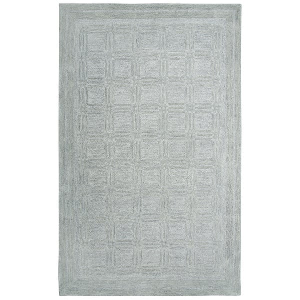 Rizzy Home Fifth Avenue Grey Squares Area Rug
