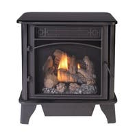 ProCom Gas Stove 3-Sided Black Dual Fuel with Remote Control – 23,000 BTU PCNSD25RTA