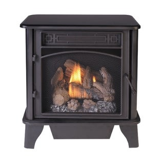 ProCom Gas Stove 3-Sided Black Dual Fuel with Remote Control  23,000 BTU PCNSD25RTA