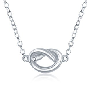 "La Preciosa Sterling Silver High Polish Small Knot 16+2"" Necklace"
