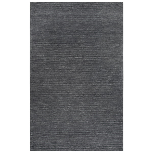 Rizzy Home Fifth Avenue Dk. Grey Solid Area Rug - 5' x 8'