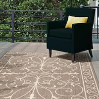"Gracewood Hollow Beige Brian Alexa Outdoor/Indoor Area Rug - 7' 6"" x 10' 9"""
