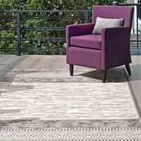 "nuLOOM Grey Luxurious Contemporary Tribal Style Indoor/ Outdoor Area Rug - 7'6"" x 10'9"""