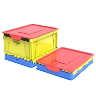 Folding Storage Cube with Lid, Classroom Colors (4 units/pack)