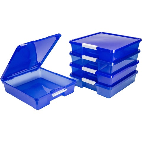 12x12 Classroom Student Project Box/Translucent Blue (5 units/pack)