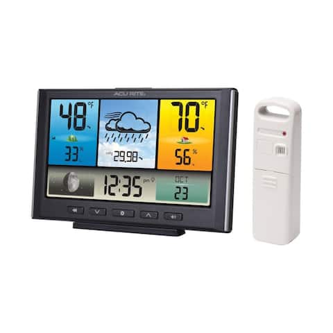 AcuRite Digital Weather Station / Weather Clock with Color Display