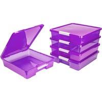 12x12 Classroom Student Project Box/Translucent Purple (5 units/pack)