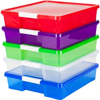 12x12 Stack & Store Box, Assorted Colors (5 units/pack)